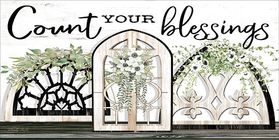 Cindy Jacobs CIN1700 - CIN1700 - Count Your Blessings - 18x9 Count Your Blessings, Window Arches, Flowers, Swags from Penny Lane
