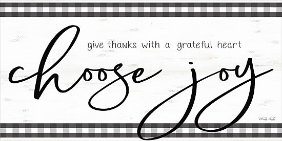 Cindy Jacobs CIN1703 - CIN1703 - Choose Joy - 18x9 Choose Joy, Thankful, Gingham, Black & White from Penny Lane