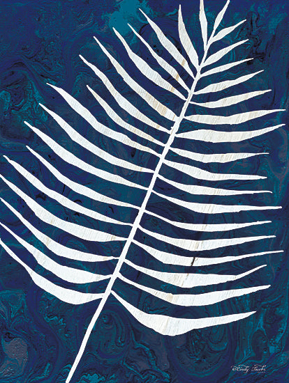Cindy Jacobs CIN1711 - CIN1711 - Navy Areca Leaf - 12x16 Areca Leaf, Blue and White, Tropical from Penny Lane