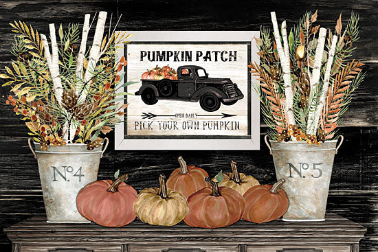 Cindy Jacobs CIN1785 - CIN1785 - Pumpkin Patch Still Life - 18x12 Signs, Typography, Pumpkins, Truck, Still Life, Pumpkin Patch, Fall from Penny Lane