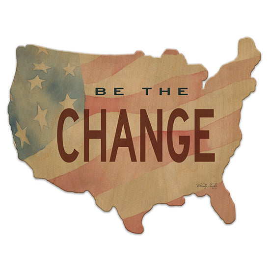 Cindy Jacobs CIN847US - Be the Change Be the Change, USA, America, American Flag from Penny Lane