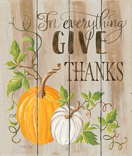 Cindy Jacobs CIN855 - For Everything Give Thanks - Thanks, Pumpkin, Wood Planks from Penny Lane Publishing
