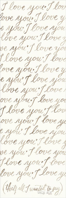 Cindy Jacobs CIN899 - Handwritten I Love You - Love, Calligraphy, Handwriting from Penny Lane Publishing