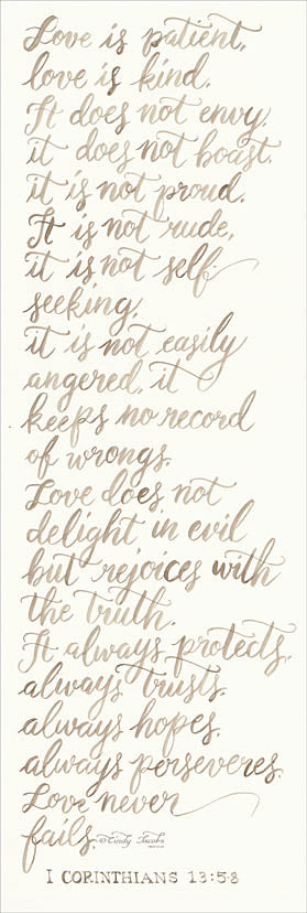 Cindy Jacobs CIN900 - Handwritten Love is Patient - Love is Patient, Calligraphy, Handwriting from Penny Lane Publishing