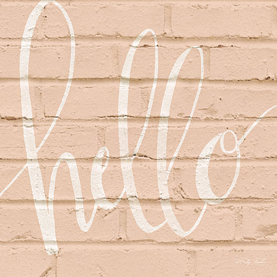 Cindy Jacobs CIN917 - Hello - Hello, Greeting, Brick Wall, Pink, Neutral from Penny Lane Publishing