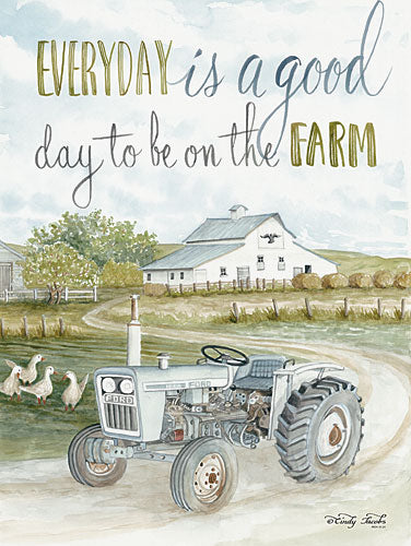 Cindy Jacobs CIN926 - Good Day - Farm, Tractor, Geese, Barn, Field from Penny Lane Publishing