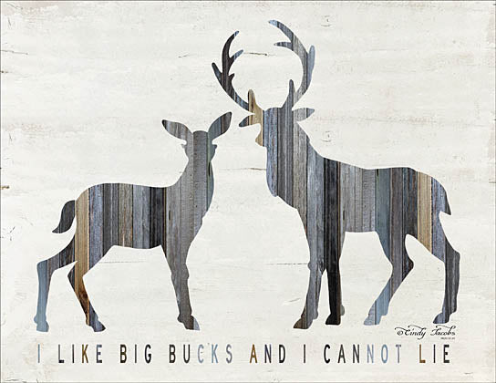 Cindy Jacobs CIN942 - I Like Big Bucks - Deer, Bucks, Wood Inlay, Humor from Penny Lane Publishing