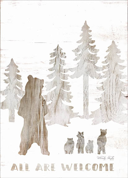 Cindy Jacobs CIN944 - All are Welcome Bears - Bears, Bear Cubs, Forest, Trees, Pine, Welcome from Penny Lane Publishing