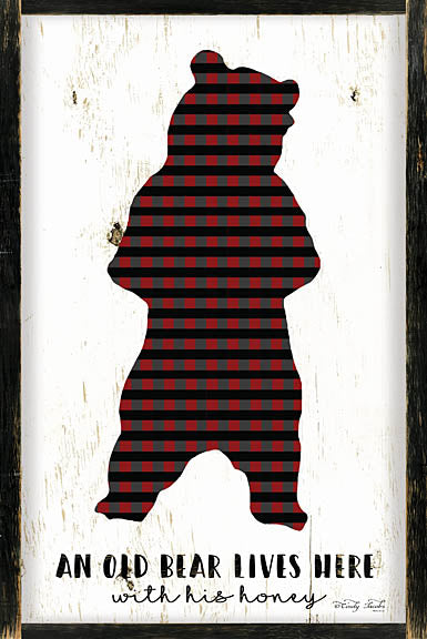 Cindy Jacobs CIN952 - Bear and His Honey Lives Here - Bear, Plaid, Frame, Signs from Penny Lane Publishing
