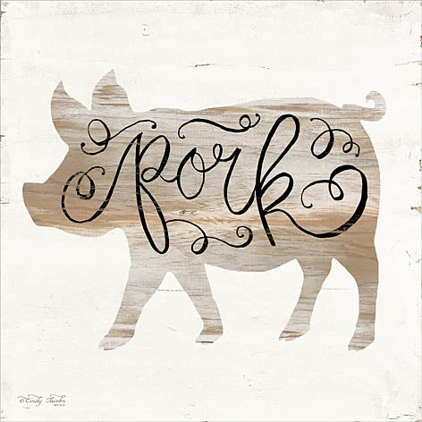 Cindy Jacobs CIN957 - Pork - Pig, Pork Calligraphy, Signs from Penny Lane Publishing