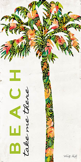 Cindy Jacobs CIN972 - Beach - Take Me There - Palm Tree, Beach, Flowers, Tropical from Penny Lane Publishing