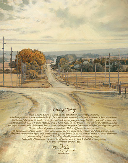 Bonnie Mohr COW261C - Living Today - Living Today, Trees, Road, Path from Penny Lane Publishing