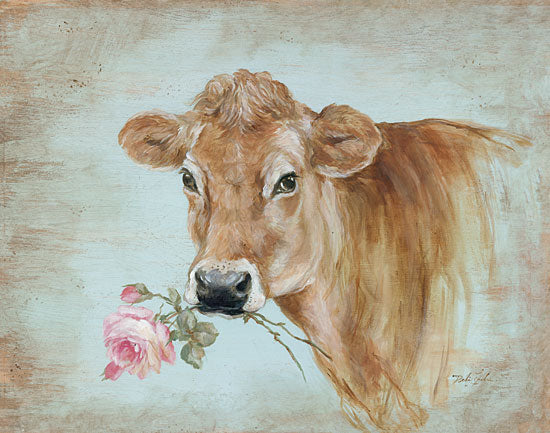 Debi Coules DC101 - Miss Moo Cow, Pink Flowers, Roses from Penny Lane