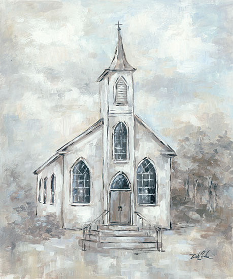 Debi Coules DC105 - Faith Church, Rustic, Blue, Gray from Penny Lane