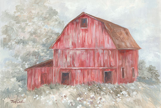 Debi Coules DC108 - Old Red Barn, Red Barn, Watercolor, Farm from Penny Lane