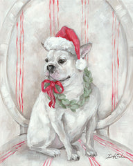 DC111 - French Bulldog Santa - 12x16