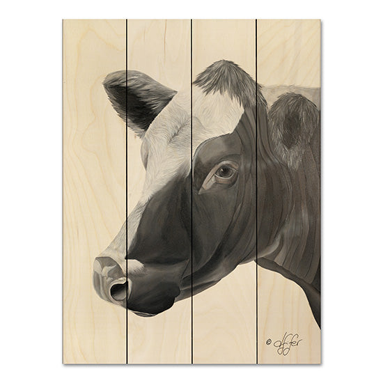 Diane Fifer DF100PAL - A'head' of Myself Cow, Farm, Black & White from Penny Lane
