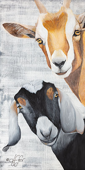 Diane Fifer DF111 - Shenanigans - 9x18 Goats, Farm, Portrait from Penny Lane