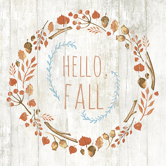 Dogwood DOG127 - Hello Fall - Hello, Autumn, Wreath, Acorns, Leaves from Penny Lane Publishing