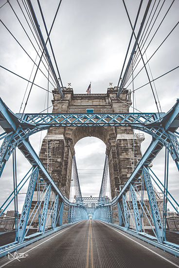 Donnie Quillen DQ133 - The Blues I Suspension Bridge, Cincinnati, Ohio, Bridge, Photography from Penny Lane