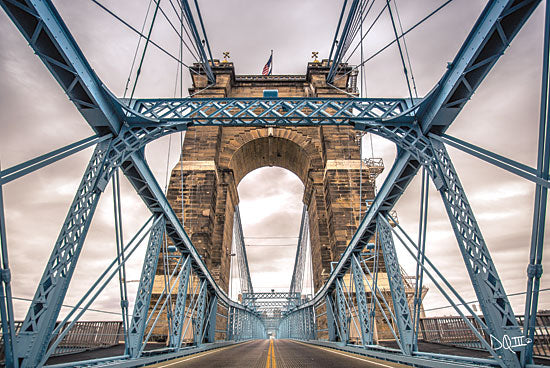 Donnie Quillen DQ134 - The Blues II Suspension Bridge, Cincinnati, Ohio, Bridge, Photography from Penny Lane