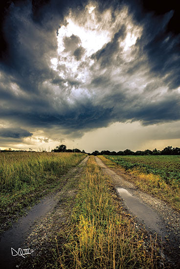 Donnie Quillen DQ140 - Embrace the Storm I Storm, Weather, Clouds, Road, Path, Landscape from Penny Lane