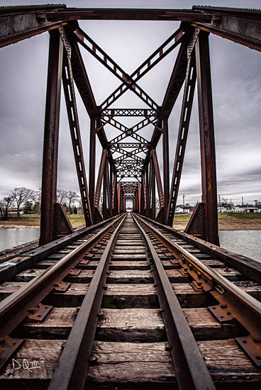Donnie Quillen DQ145 - Take the Detour - 12x18 Bridge, Photography, Railroad, Train Track, Trains from Penny Lane
