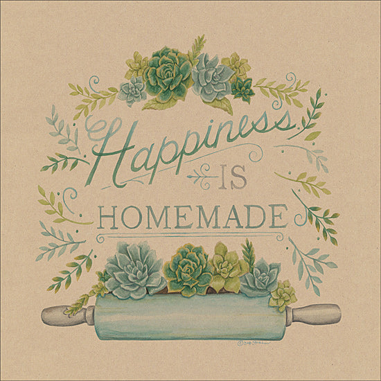Deb Strain DS11610 - Happiness is Homemade - Happiness, Succulents, Rolling Pin, Greenery from Penny Lane Publishing
