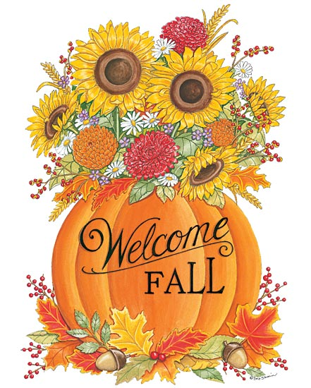 Deb Strain DS1626 - Pumpkin Bouquet - Welcome, Autumn, Pumpkin, Sunflowers, Leaves from Penny Lane Publishing