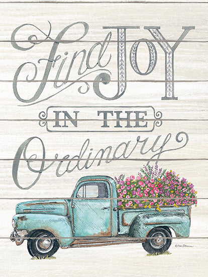 Deb Strain DS1662 - Find Joy in the Ordinary - Truck, Flowers, Shiplap, Farm from Penny Lane Publishing
