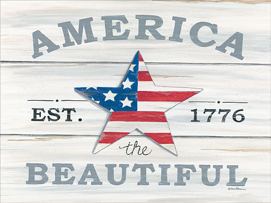 Deb Strain DS1667 - America the Beautiful Star America the Beautiful, 1776, Barn Star, Shiplap, Americana from Penny Lane