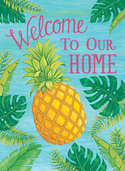 Deb Strain DS1683 - Tropical Leaves & Pineapple Pineapple, Welcome to Our Home, Palm Leaves from Penny Lane