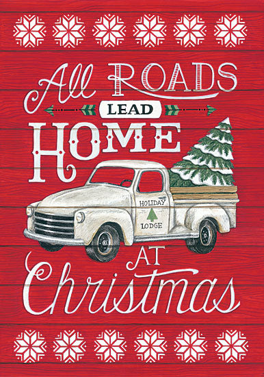 Deb Strain DS1689 - All Roads Lead Home All Road Lead Home, Wood Pallet, Truck Christmas Tree, Holiday from Penny Lane