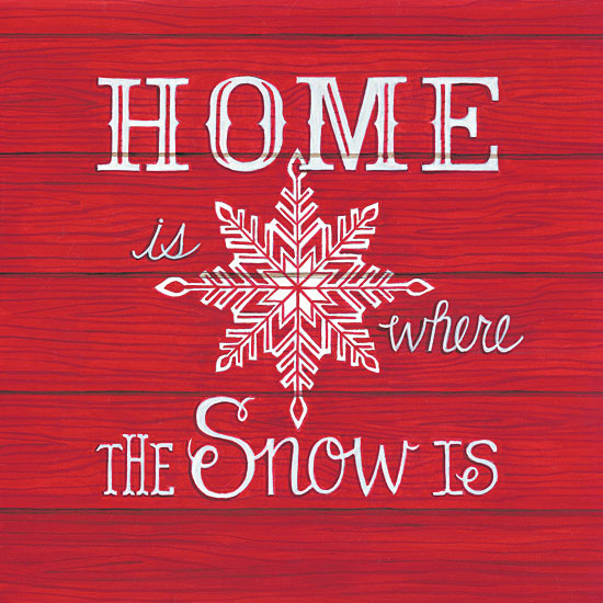 Deb Strain DS1692 - Home is Where the Snow Is Home is Where the Snow Is, Wood Pallet, Snowflakes from Penny Lane