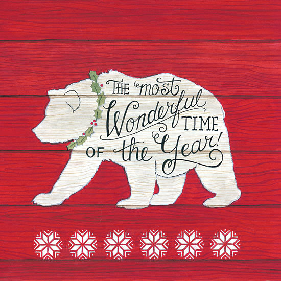 Deb Strain DS1693 - The Most Wonderful Time Bear The Most Wonderful Time, Bear, Snowflakes, Wood Pallet from Penny Lane
