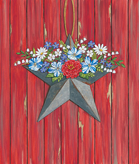 Deb Strain DS1700 - Barn Star Barn Star, Wood Planks, Flowers, Barn Door from Penny Lane