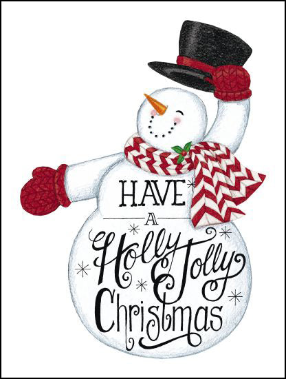 Deb Strain DS1715 - Have a Holly Jolly Christmas Snowman Holly Jolly Christmas, Snowman, Calligraphy, Winter from Penny Lane