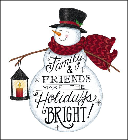 Deb Strain DS1716 - Holidays Bright Snowman Family, Friends, Holidays, Calligraphy, Winter, Snowman from Penny Lane