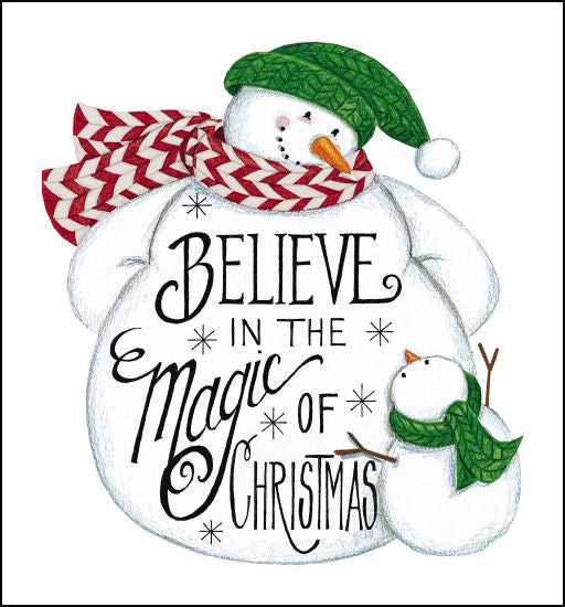 Deb Strain DS1717 - Believe Snowman Believe, Snowman, Calligraphy, Holidays, Winter from Penny Lane