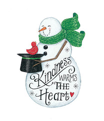 DS1719 - Kindness Warms the Heart Snowman - 12x16