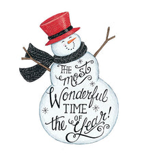 DS1720 - Wonderful Time Snowman - 12x16