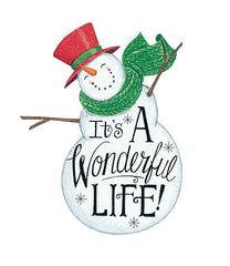 DS1721 - It's a Wonderful Life Snowman - 12x16