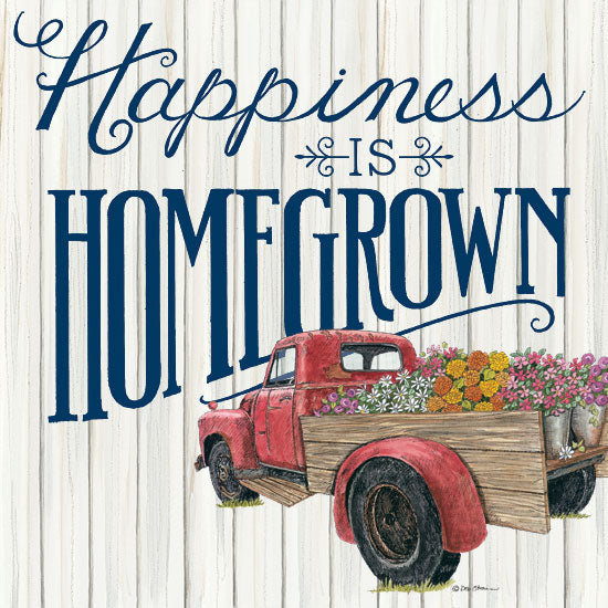 Deb Strain DS1728 - Happiness is Homegrown Truck, Flowers, Happiness, Homegrown, Shiplap from Penny Lane