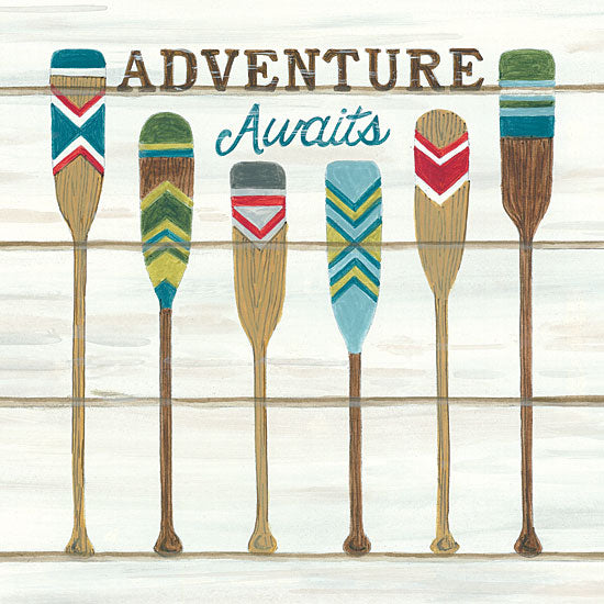 Deb Strain DS1740 - Adventure Awaits - 12x12 Adventure Awaits, Oars, Canoeing, Shiplap from Penny Lane