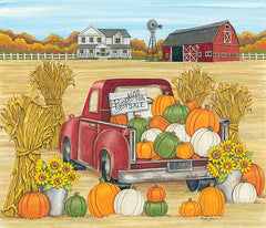 DS1787 - Pumpkins for Sale Red Truck Farm - 12x12