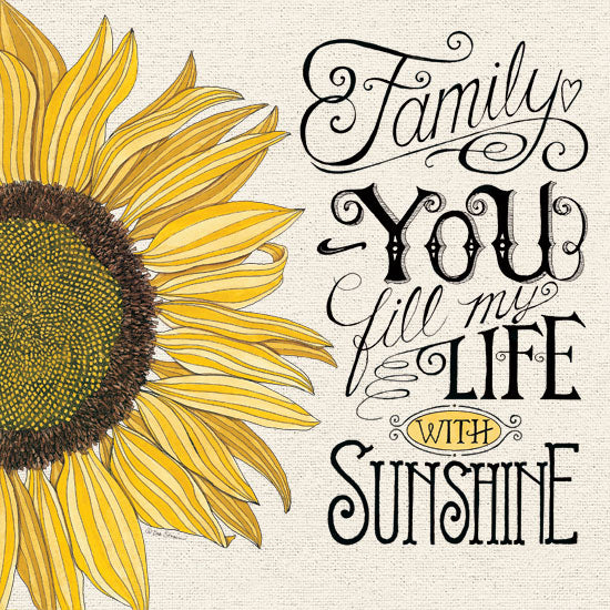 Deb Strain DS1849 - DS1849 - Fill My Life With Sunshine - 12x12 Signs, Family, Sunflower, Typography from Penny Lane