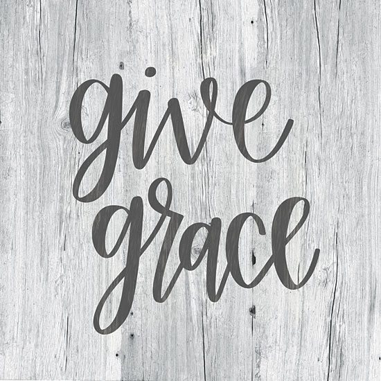 Imperfect Dust DUST115 - Give Grace Give Grace, Kitchen, Prayer, Wood, Calligraphy from Penny Lane