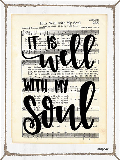 Imperfect Dust DUST131 - It Is Well with My Soul It is Well with My Soul, Sheet Music, Calligraphy from Penny Lane