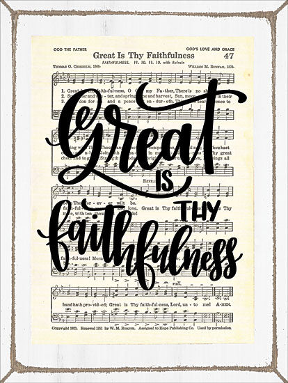 Imperfect Dust DUST135 - Great is Thy Faithfulness Great is Thy Faithfulness, Sheet Music, Song from Penny Lane