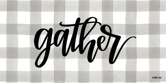 Imperfect Dust DUST249 - Gather - 18x9 Gather, Gingham, Plaid, Gray and White, Signs from Penny Lane